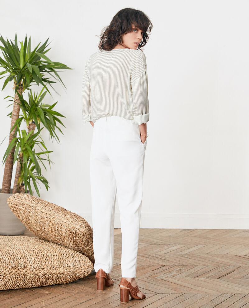 Crepe trousers Blanc Focarina