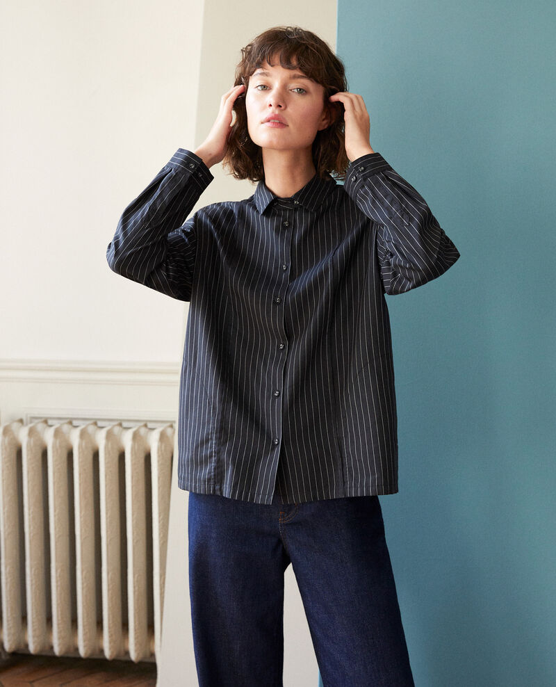 Straight-cut shirt Noir Goran