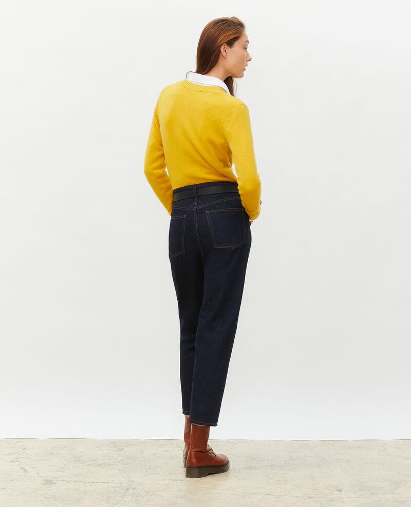 Round neck cashmere cardigan Lemon curry Marolle