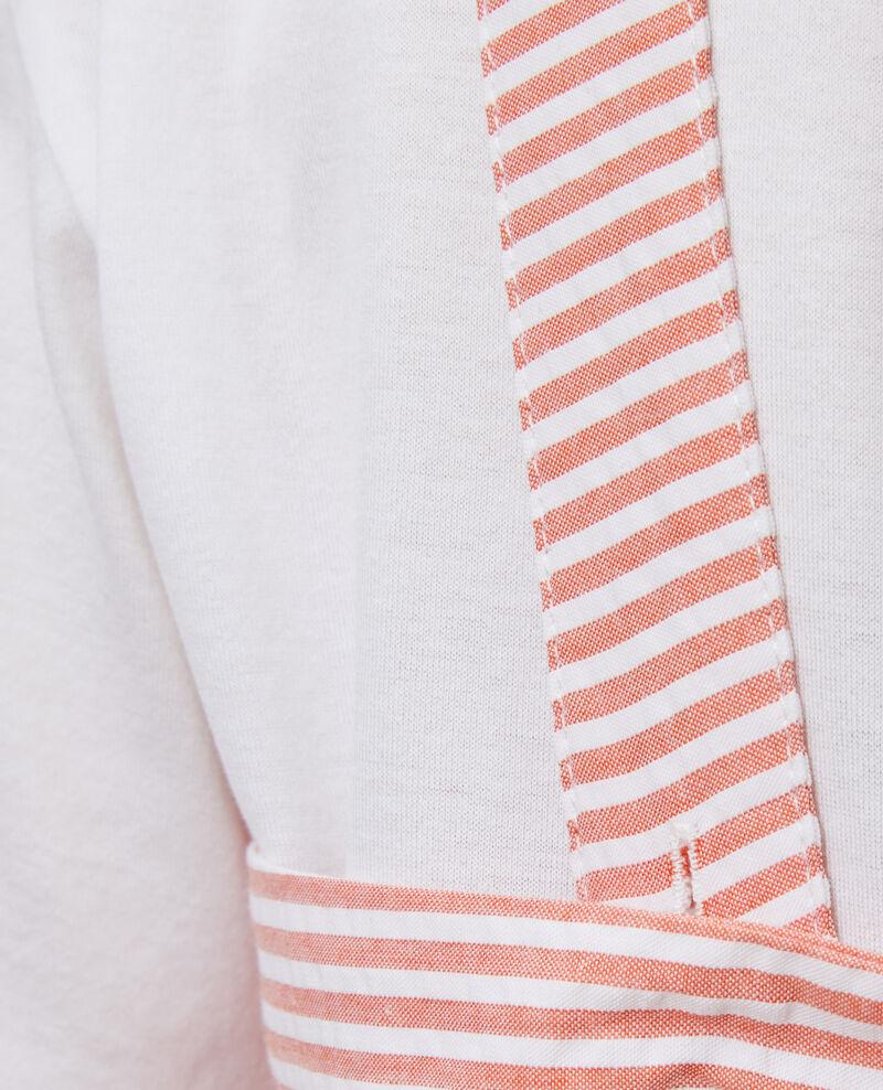 Cotton seersucker playsuit Str purepumpkin white Nassigna