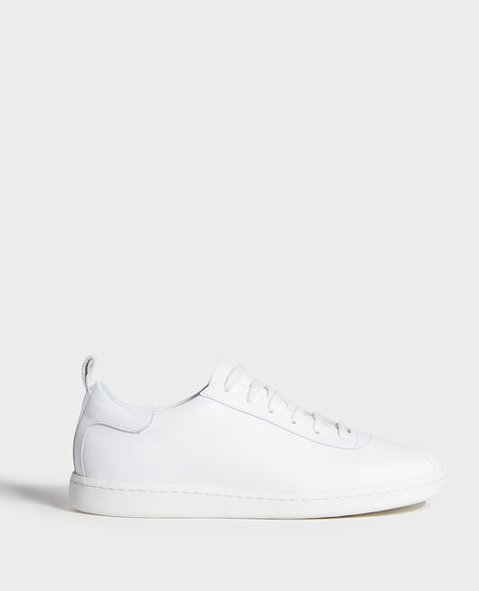 Lace-up leather sneakers OPTICAL WHITE