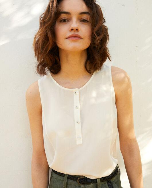 Silk vest OFF WHITE