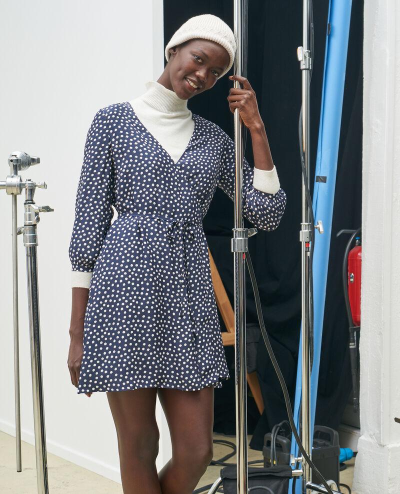 Silk wrap dress Small dots Nireclos