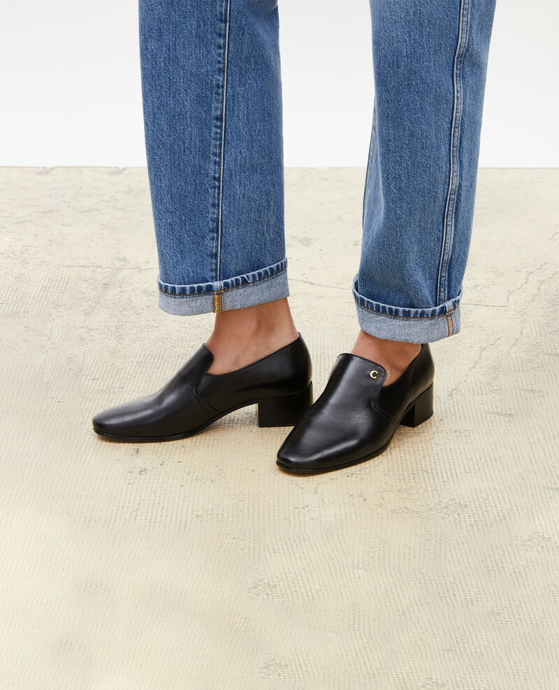 Leather moccasins Black beauty Meaux