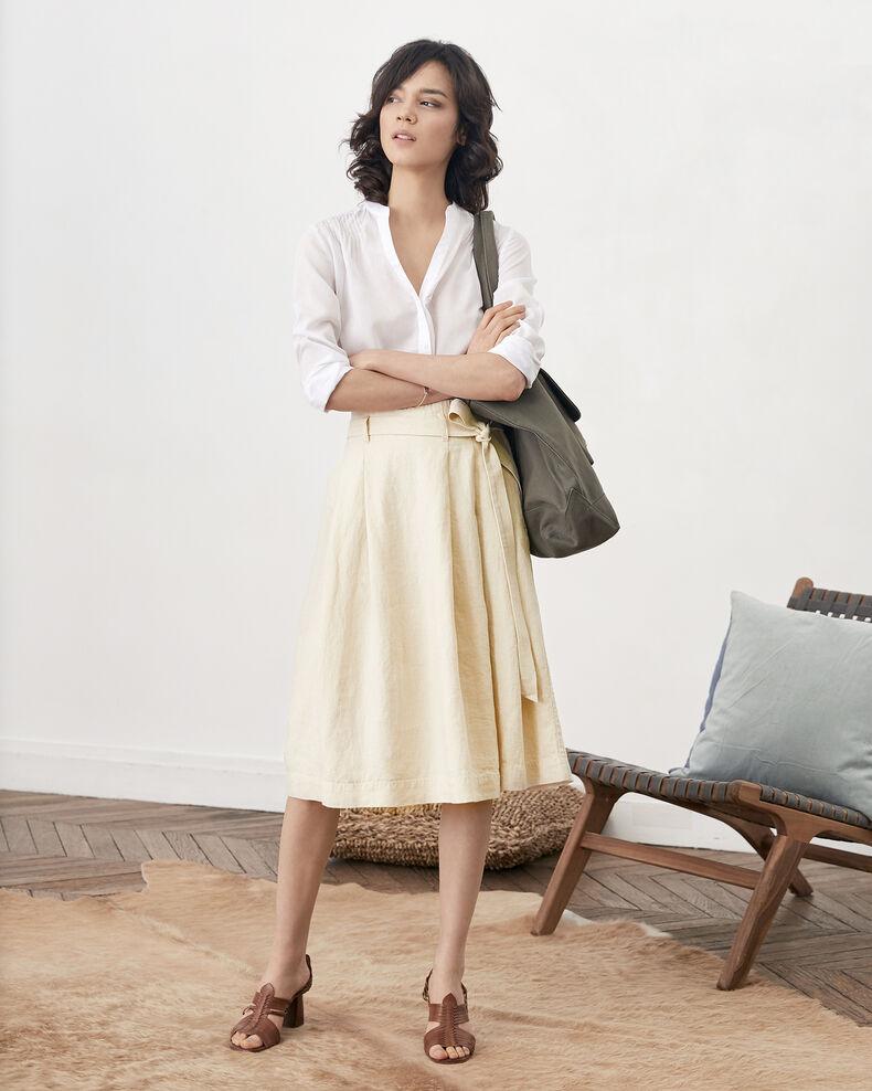 Linen skirt Natural Faheem