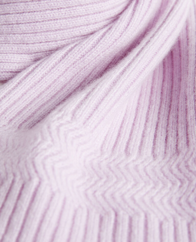 Cashmere scarf Pastel lilac Miosa