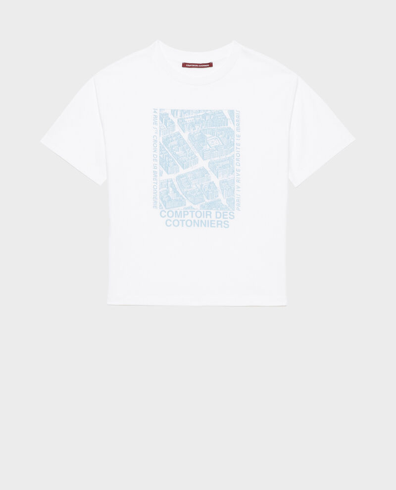 Short-sleeve cotton t-shirt Forget me not Marlane