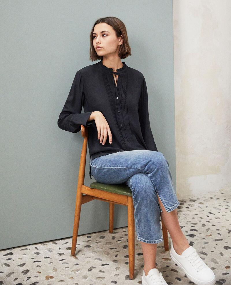 Silk blouse Noir Irta