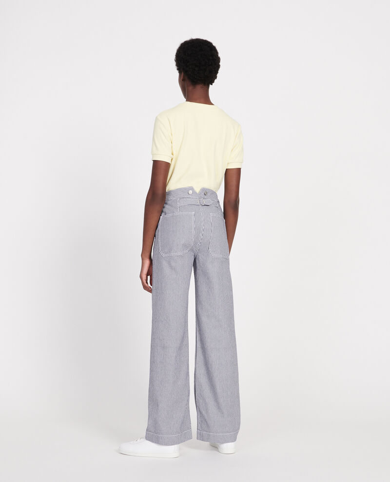 Wide leg jeans Denim stripes Lalande