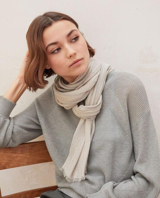 Linen blend scarf SAND BEIGE