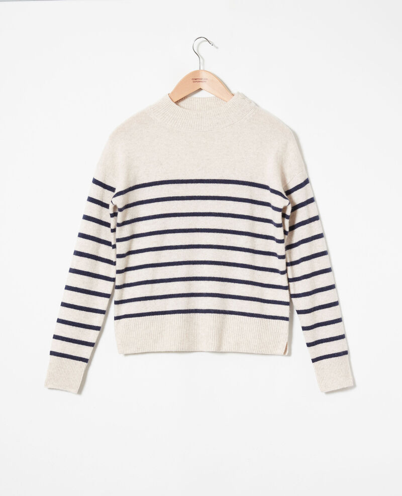 100% Striped cashmere jumper Butter/evening Jolimer