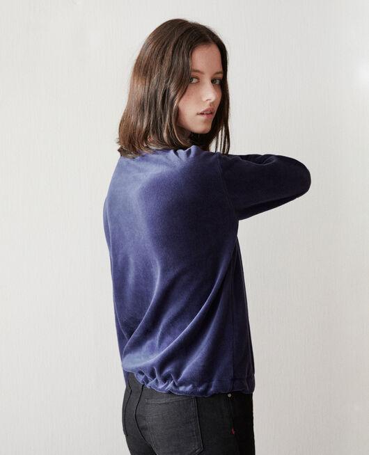 Velvet sweater MEDIEVAL BLUE
