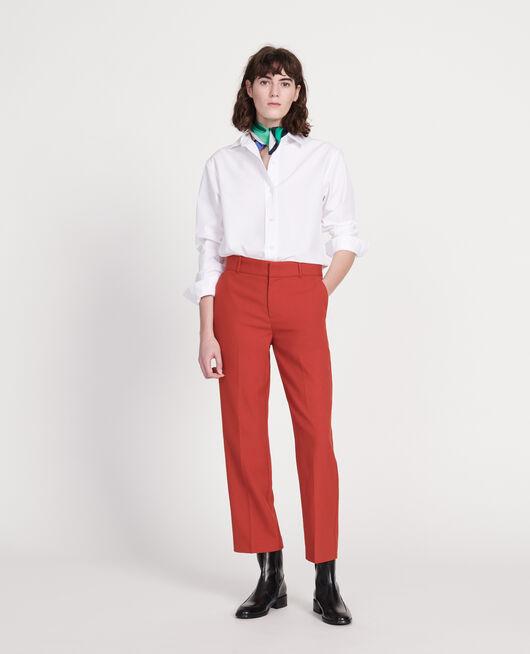 Classic poplin shirt OPTICAL WHITE