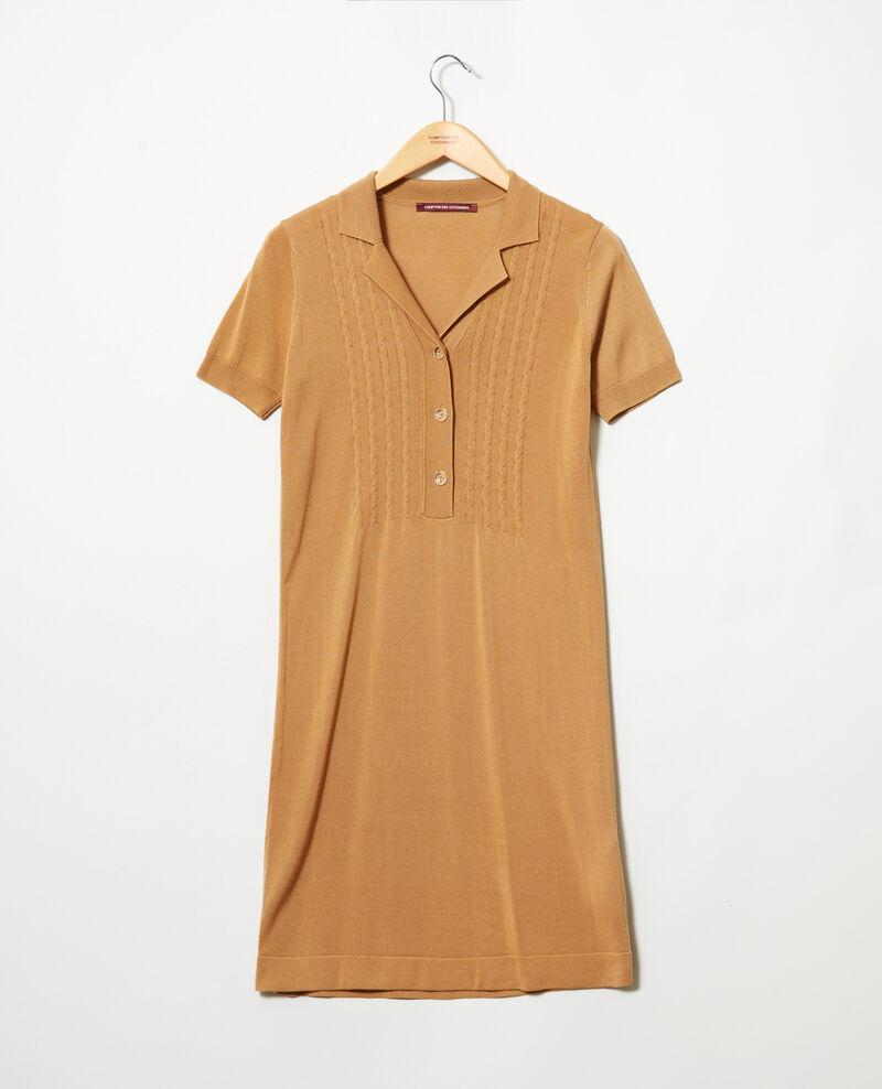 Knit dress Camel beige Idee