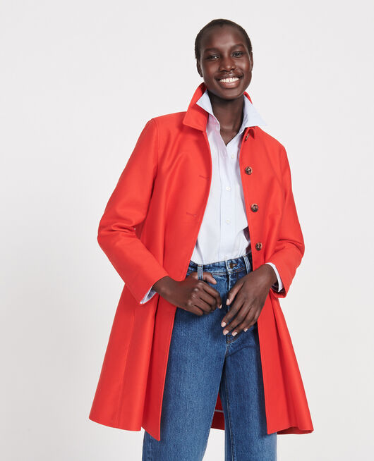 Cotton overcoat FIERY RED