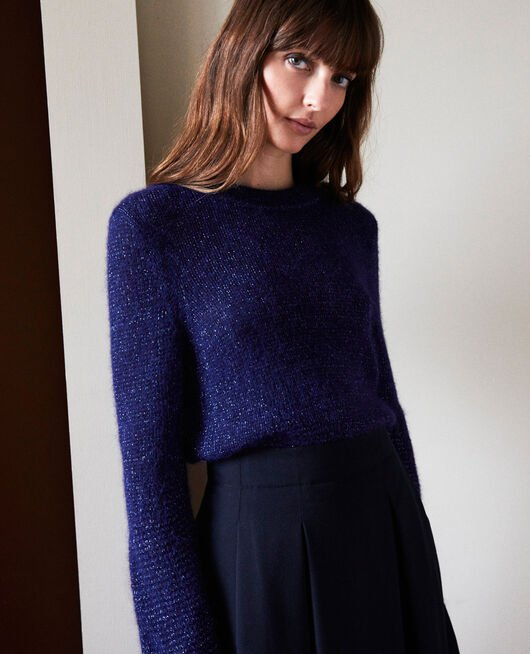 Novelty knit jumper EVENING BLUE