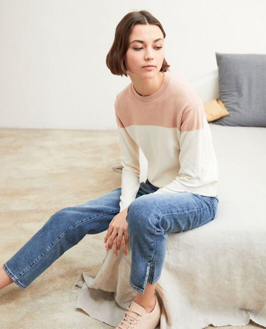 Straight jeans with slits VINTAGE WASH