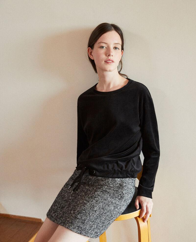 Velvet sweater Black Gala