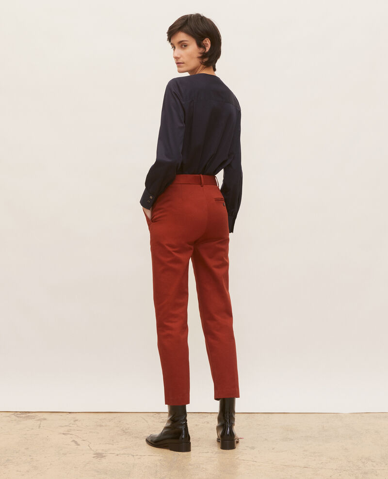Tapered cotton 7/8 chinos Brandy brown Mezel