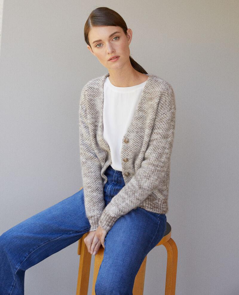 Flecked knit cardigan Grey Gordius