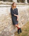 3D knit jumper dress 100% cashmere Dark grey Joceline