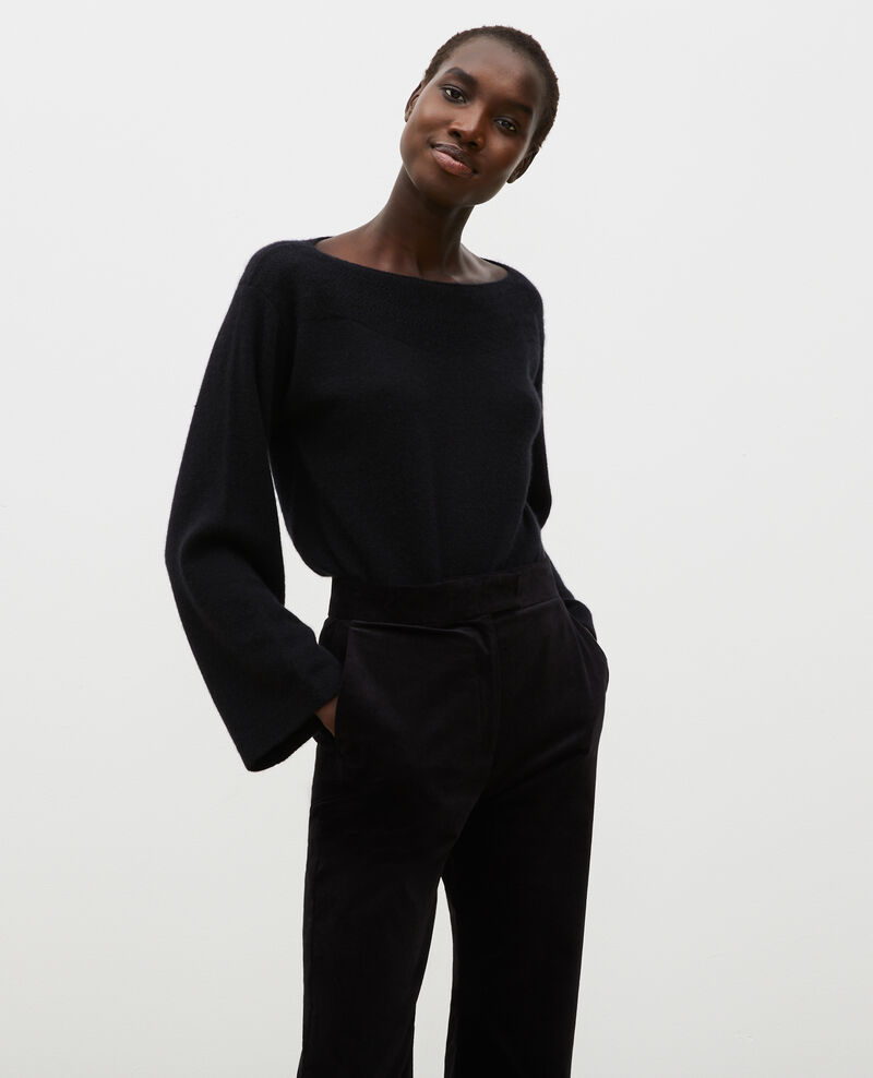 Cashmere boatneck jumper Black beauty Millau