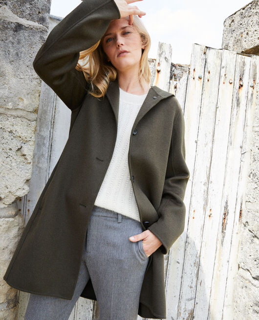 Double-sided hooded coat DEEP DEPTHS