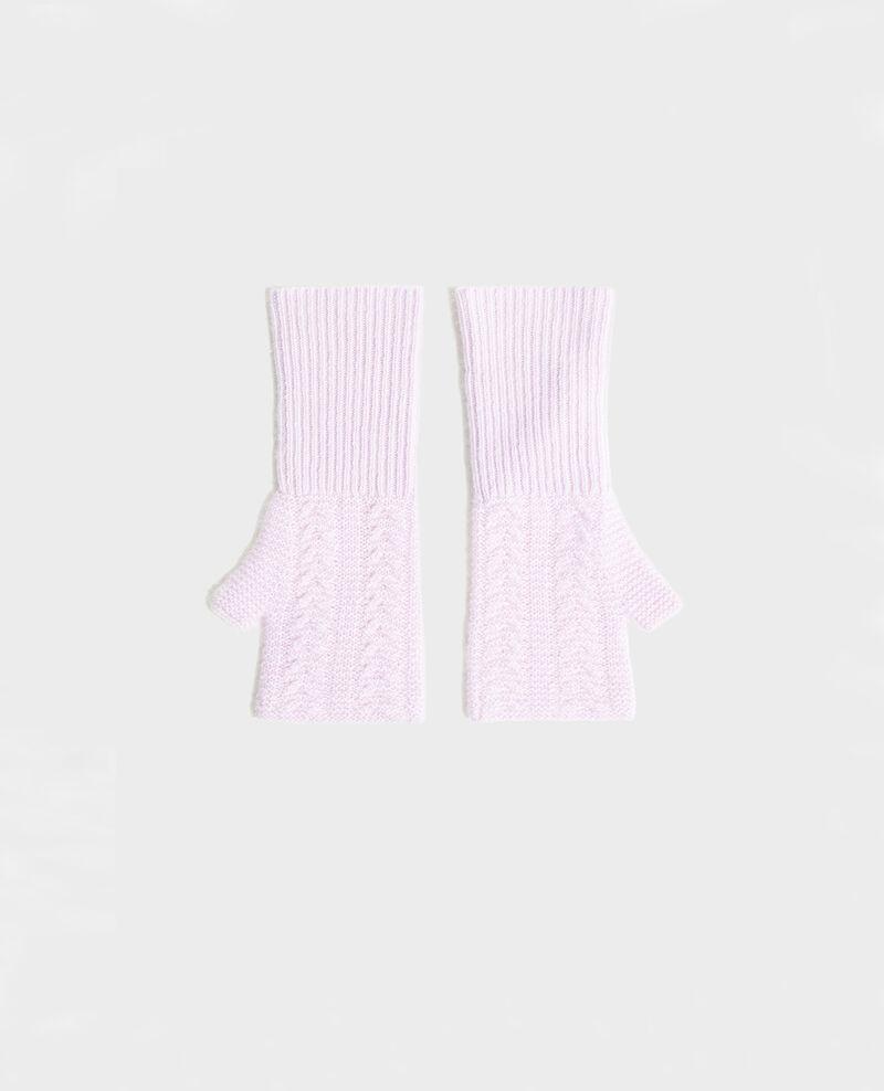 Cashmere mittens Pastel lilac Mirabel