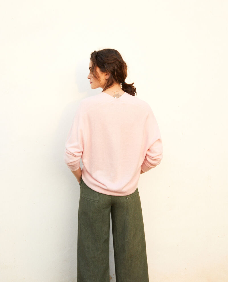 Cashmere blend jumper Pink icing Iopy