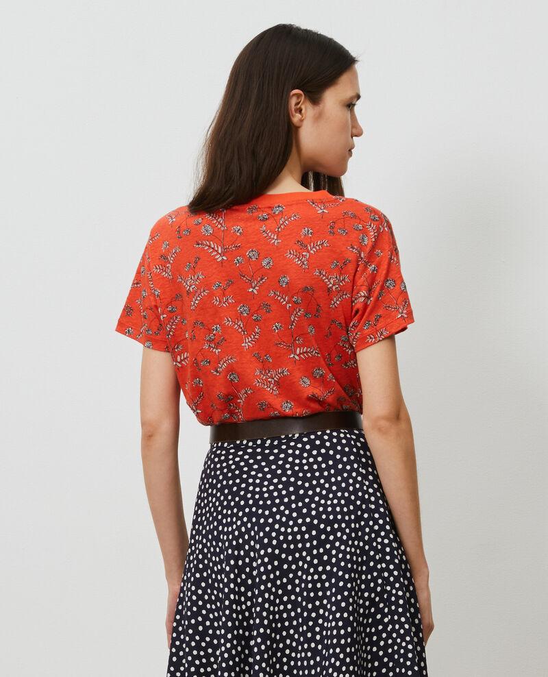 Linen V-neck t-shirt Coronille spicy Nayeli