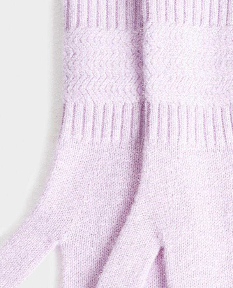 Cashmere gloves Pastel lilac Miramo