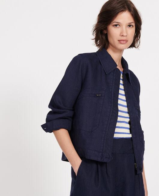 Linen jacket MARITIME BLUE