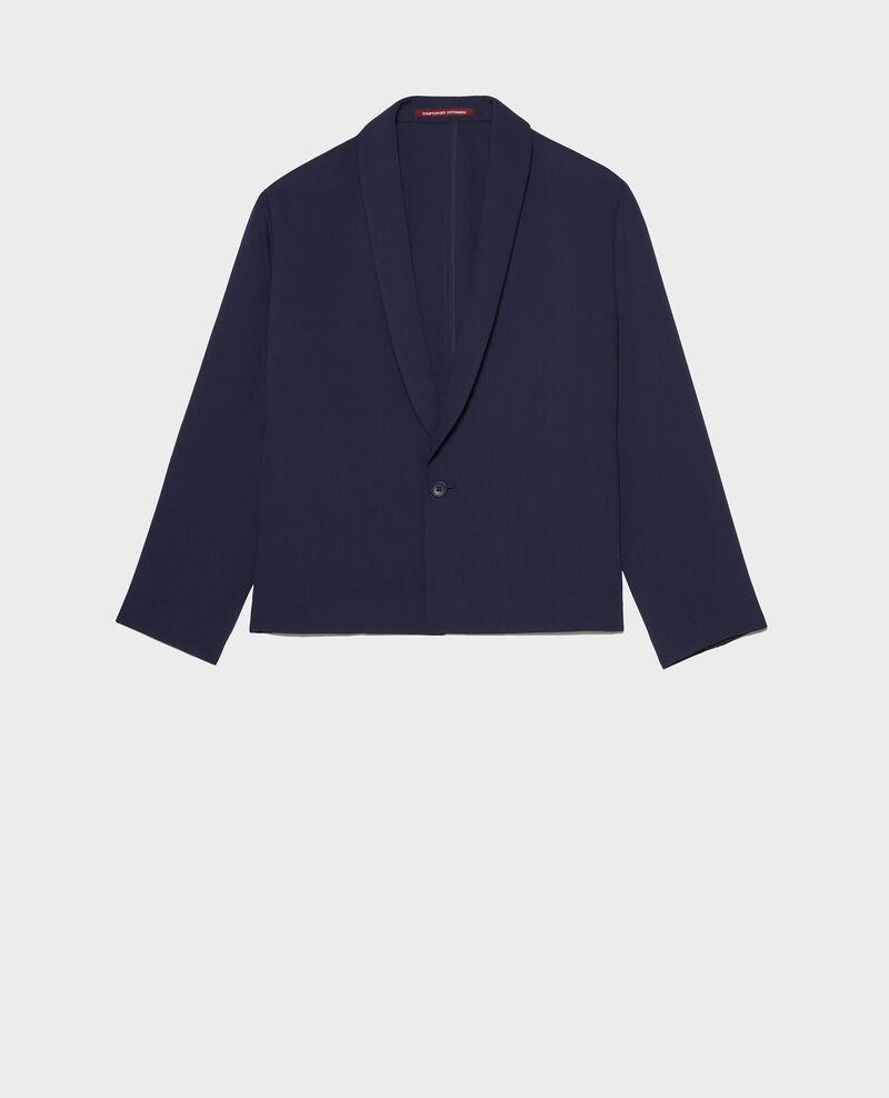 Loose polyester blazer Maritime blue Levibal