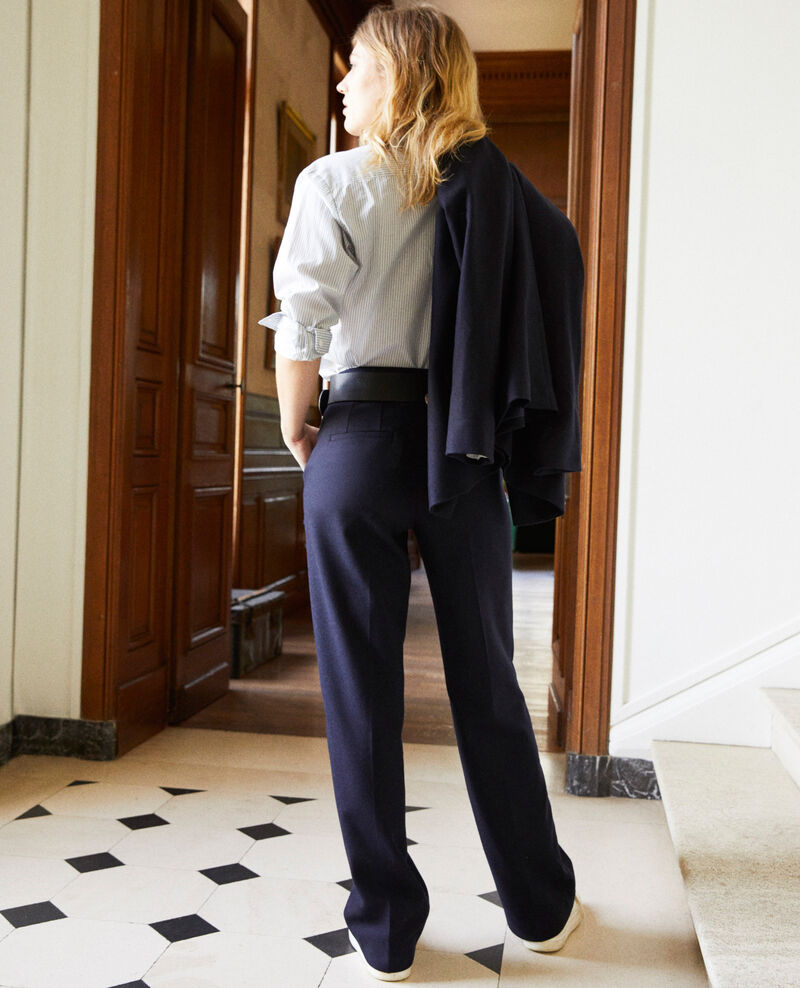 Wool blend suit trousers Dark navy Jermes