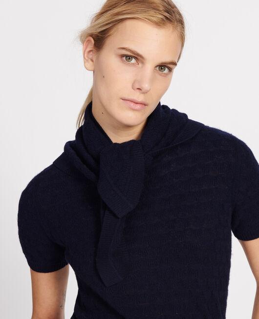 100% Cashmere headscarf MARITIME BLUE