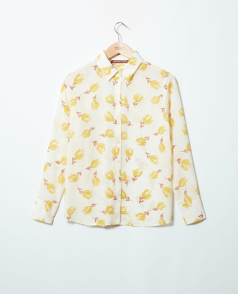 Printed shirt Tulip buttercream Jindia