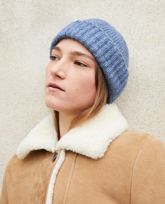 Knit beanie ADRIATIC BLUE