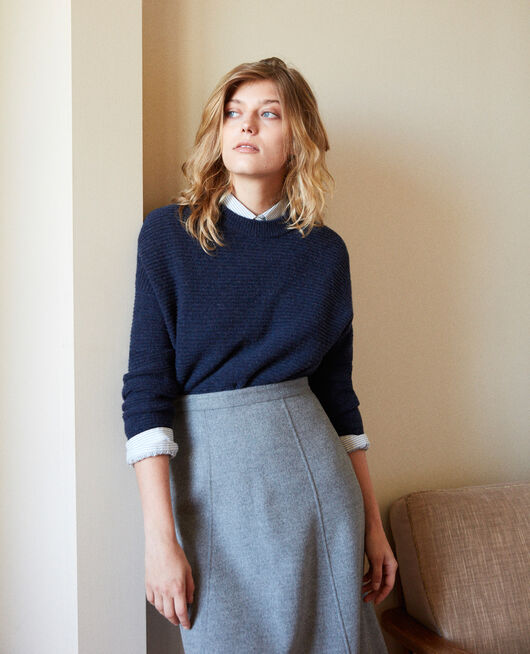 Rib knit jumper ODYSSEY GRAY