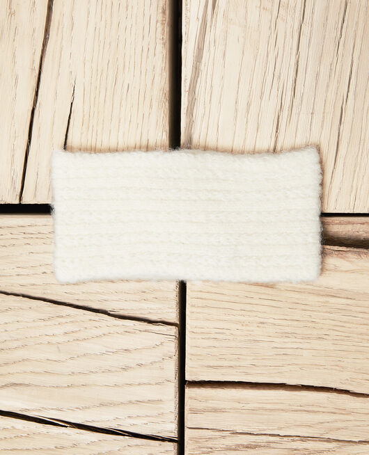 Knitted headband OFF WHITE