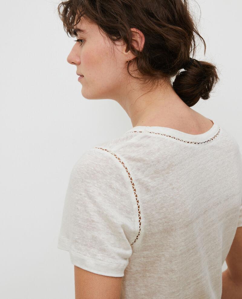 Linen T-shirt Gardenia Lye
