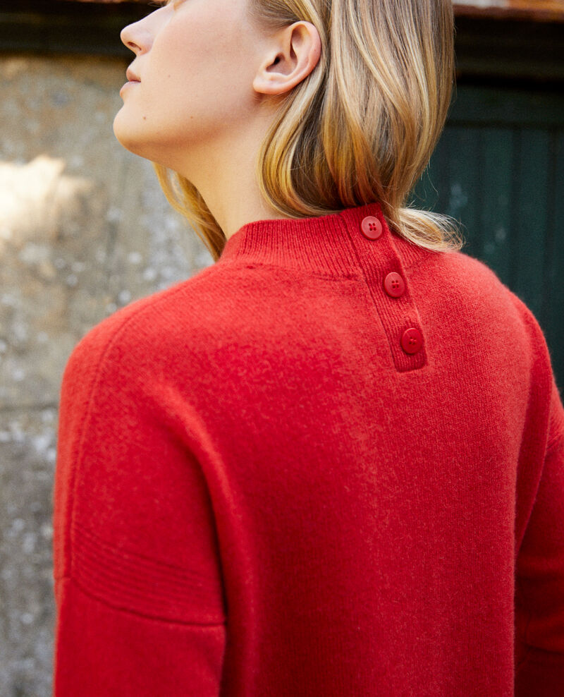 Jumper with buttons on the back Molten lava Jook
