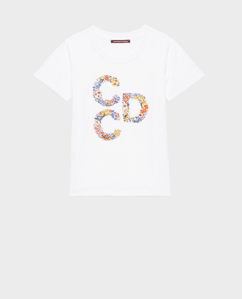 Short-sleeve cotton t-shirt Brilliant white Mae