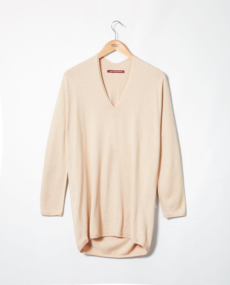 Cashmere blend jumper Sand beige Imouna