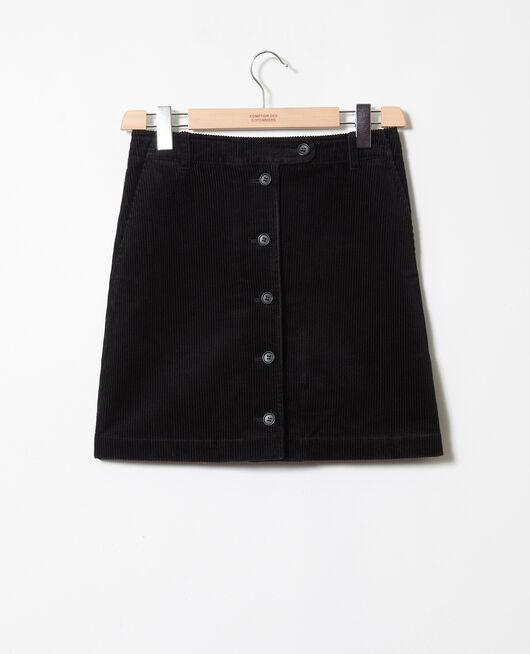 Corduroy skirt NOIR