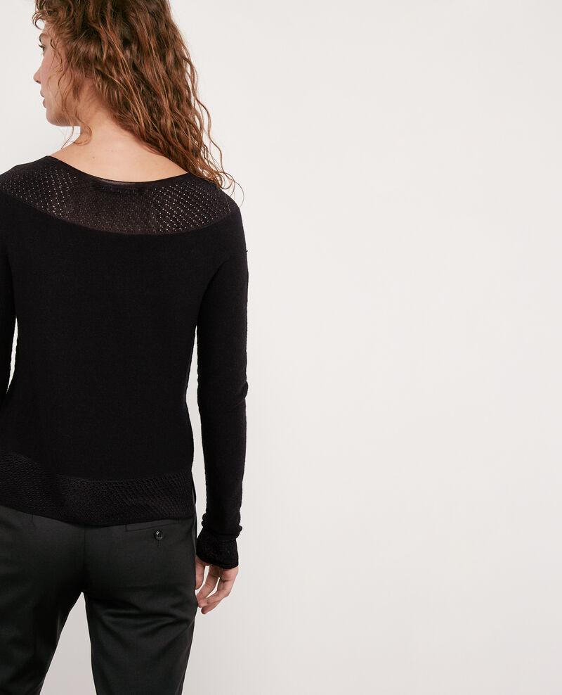 Seam-free 100% wool jumper Noir Disposition