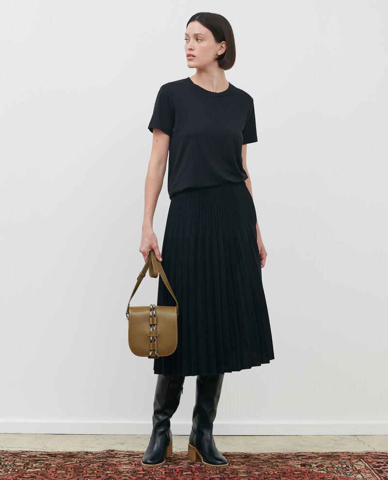 Pleated wool skirt Black beauty Mareille