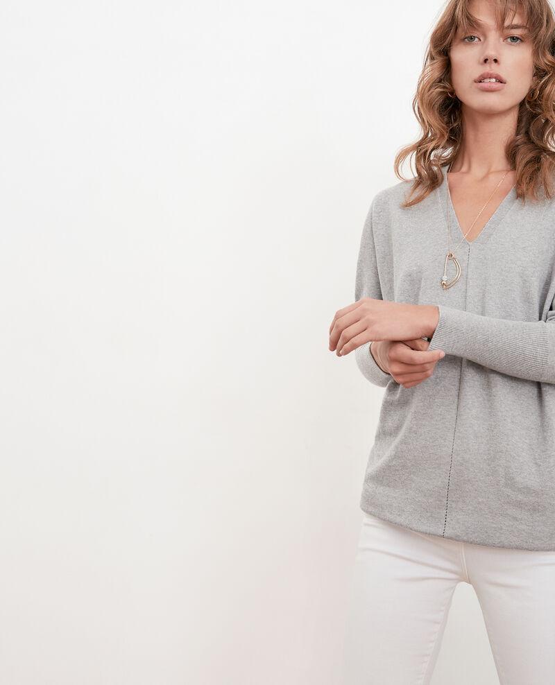 Oversize cotton and cashmere jumper Light grey Fervent