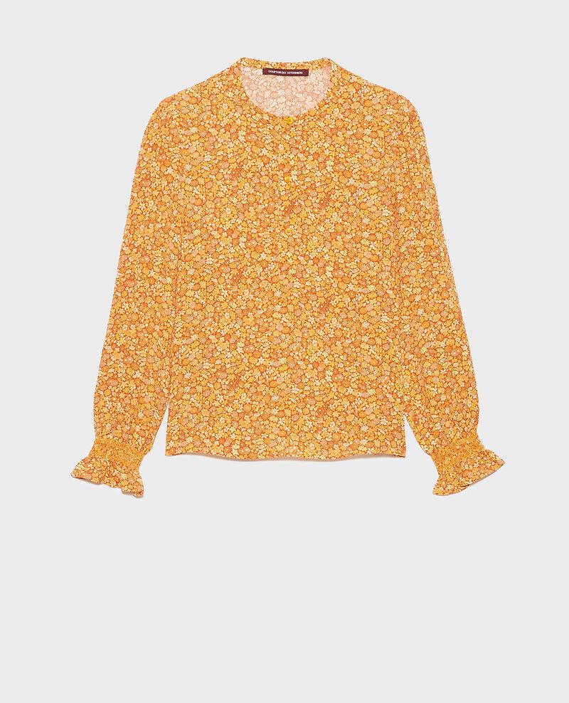 Floral print blouse Garden yellowflame Ninu