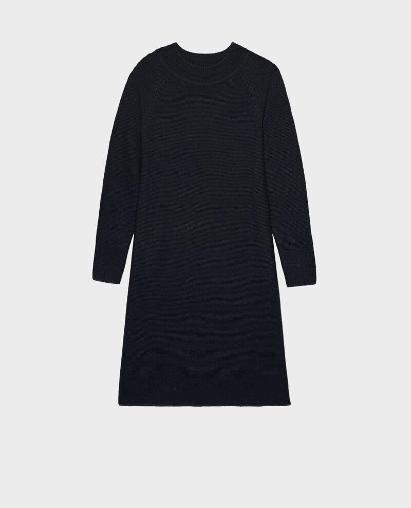 3D cashmere flared jumper dress Night sky Malroy