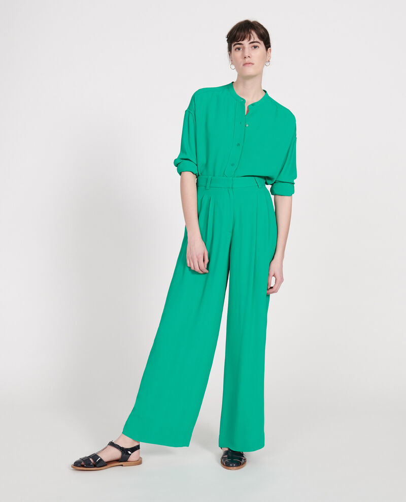 Straight-cut blouse Golf green Lorleau